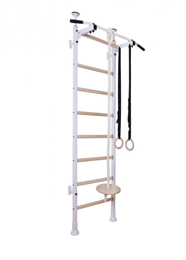 White gymnastic wall bar for kids room BenchK 412
