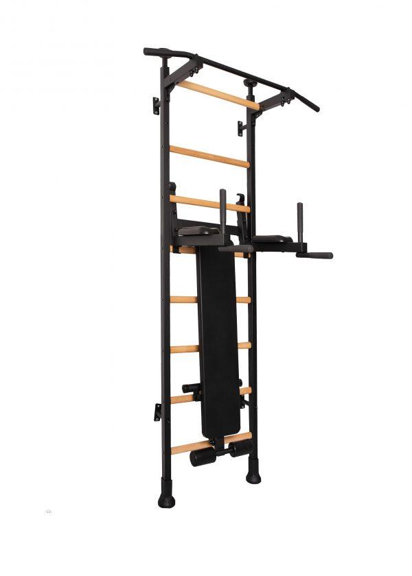 Czarna wielofunkcyjna drabinka gimnastyczna do biura BenchK 513