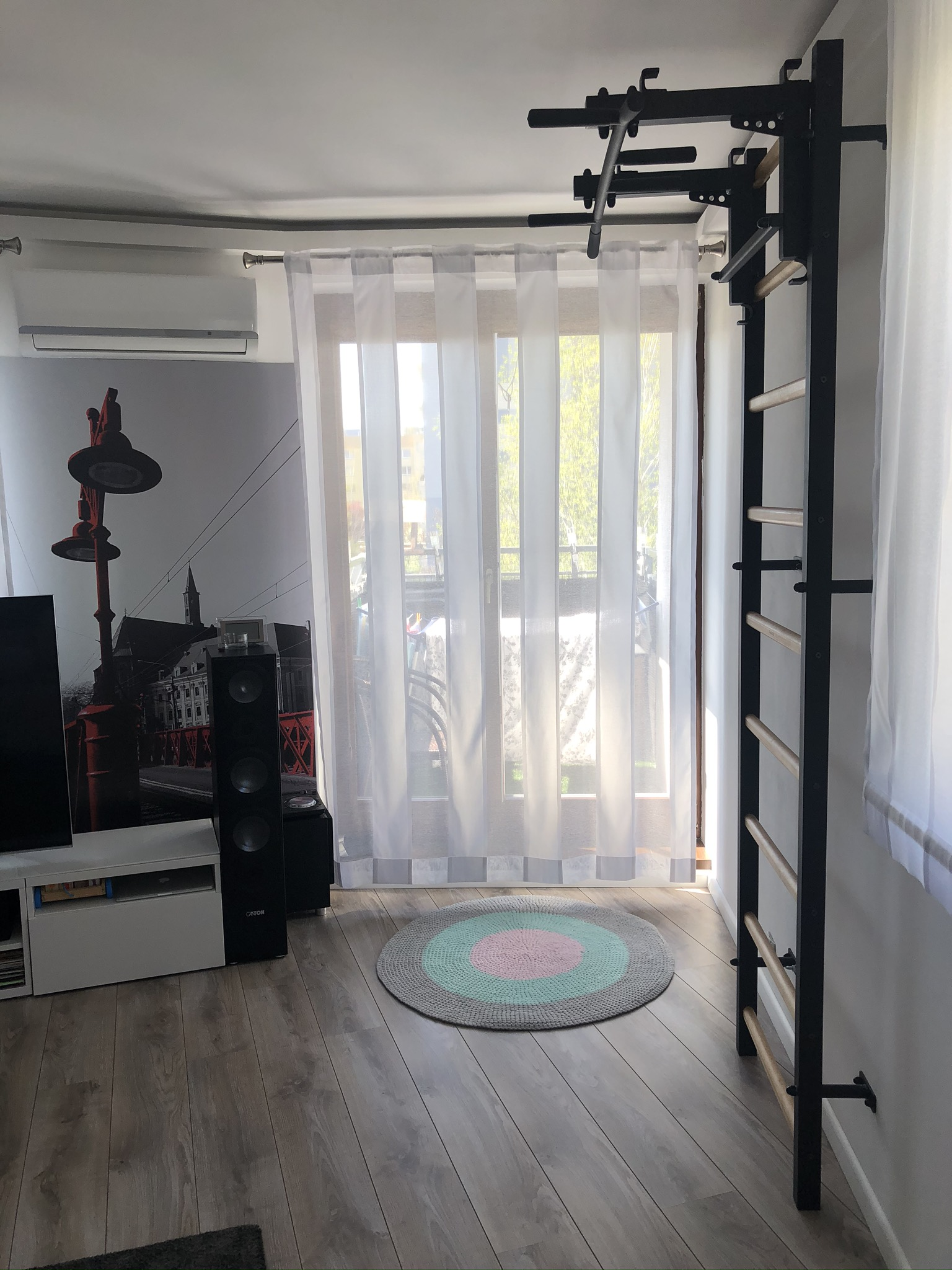 Wall bars in the living room